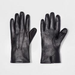 Men's Leather Dress Glove - Goodfellow & Co - Black M