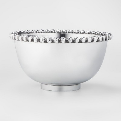 Aluminum Beaded Border Serving Bowl 114oz Silver - Threshold™