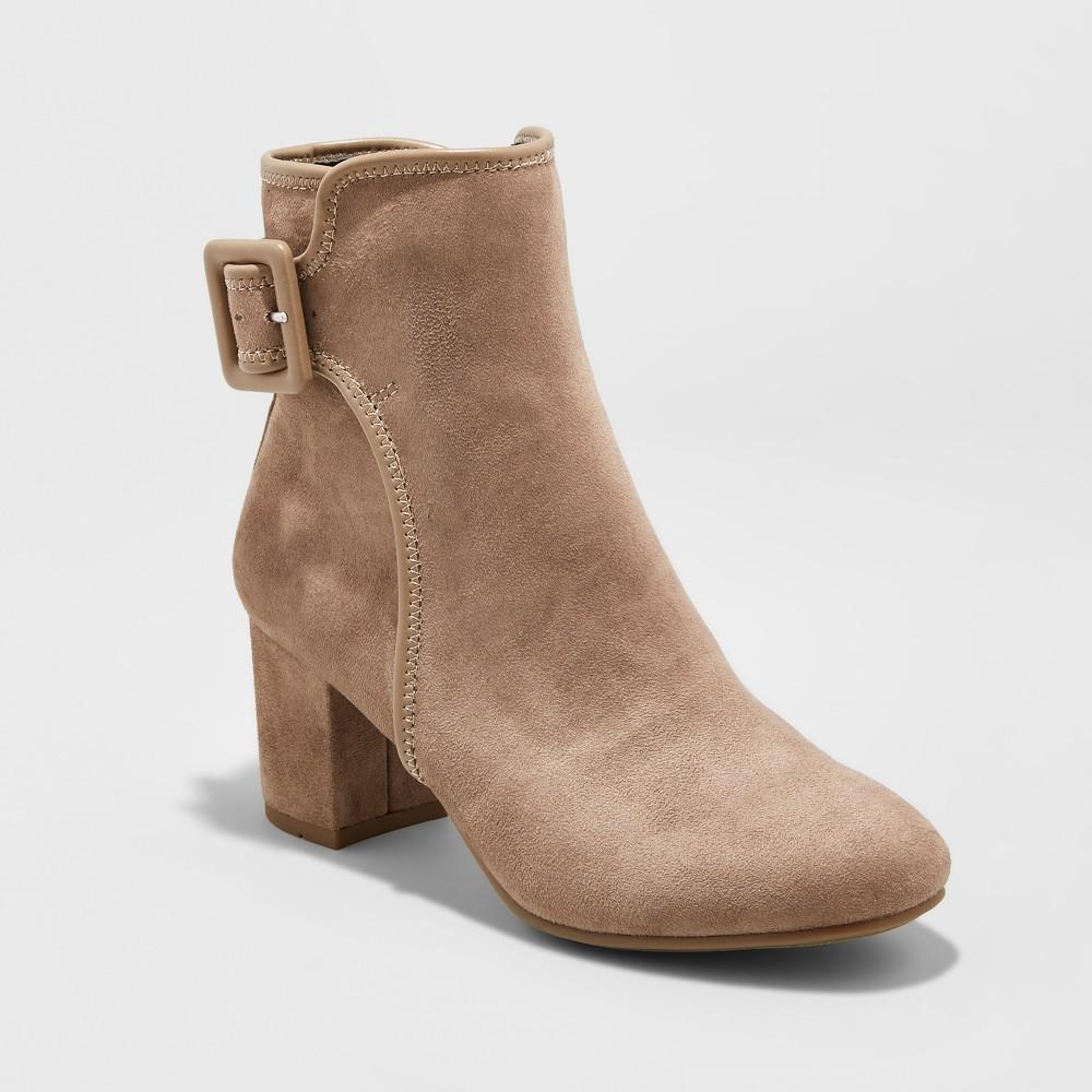 Womens Mountain Sole Carrington Buckle Ankle Booties - Desert Tan 9.5