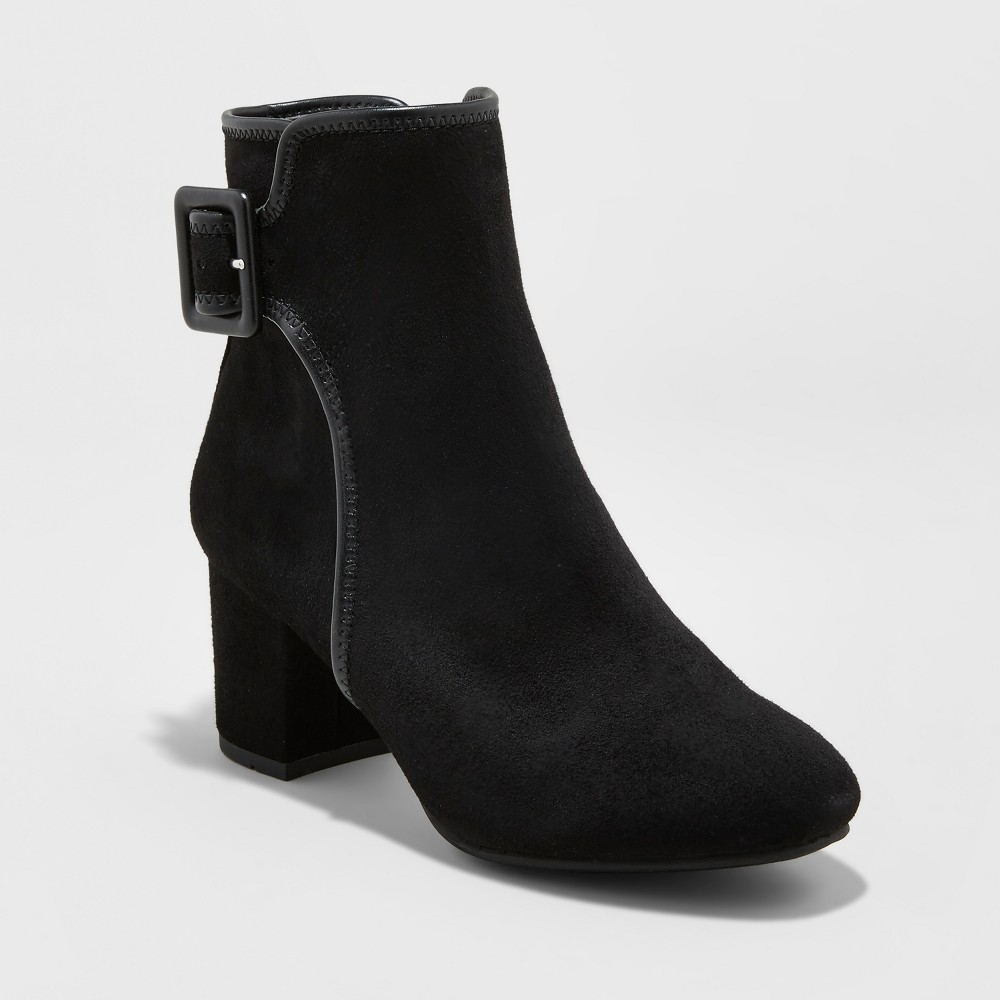 Womens Mountain Sole Carrington Buckle Ankle Booties - Black 7