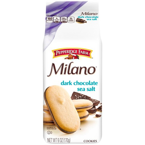 Pepperidge Farm® Milano® Dark Chocolate Sea Salt Cookies, 6oz Bag - image 1 of 6