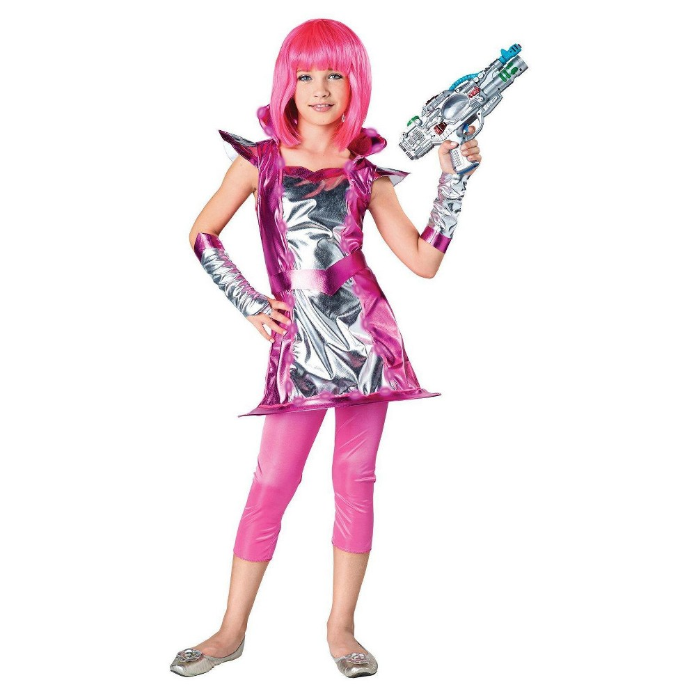 Girls Light Up Cosmic Child Costume S(4-6), Multicolored