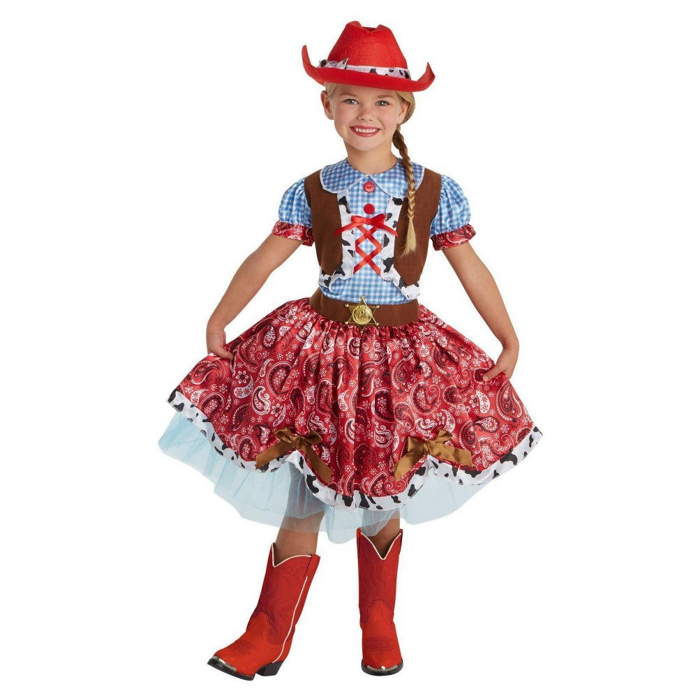 Girls Buckaroo Beauty Child Costume S(4-6), Multicolored