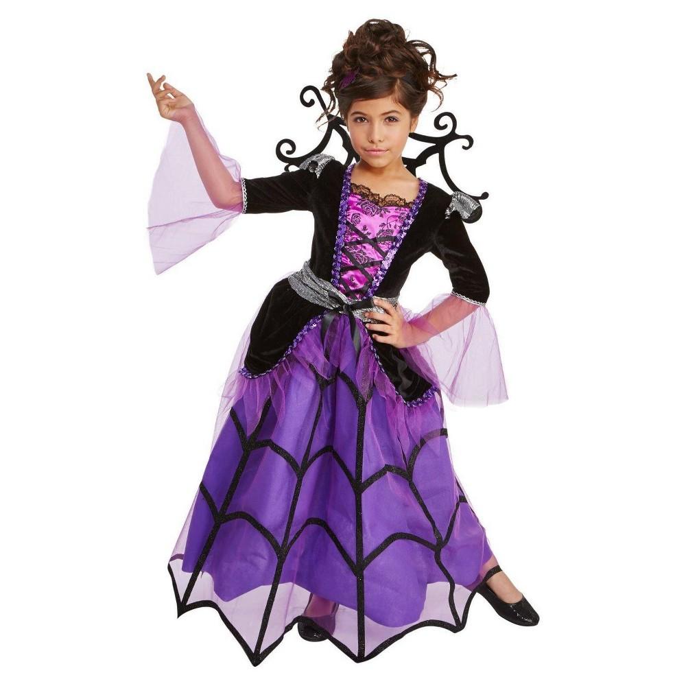 Girls Splendid Spiderella Child Costume S(4-6), Multicolored
