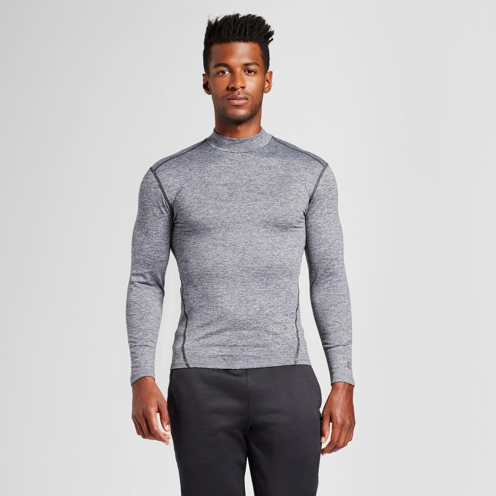 Mens Long Sleeve Mock Neck Compression Shirt - C9 Champion Silver M