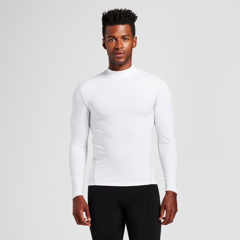 Mens Long Sleeve Mock Neck Compression Shirt - C9 Champion White S