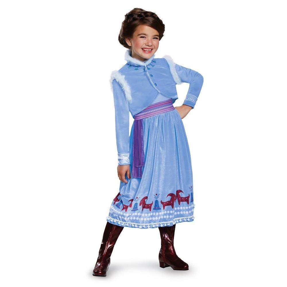 Girls Frozen Anna Adventure Dress Deluxe Costume M(8-10), Multicolored