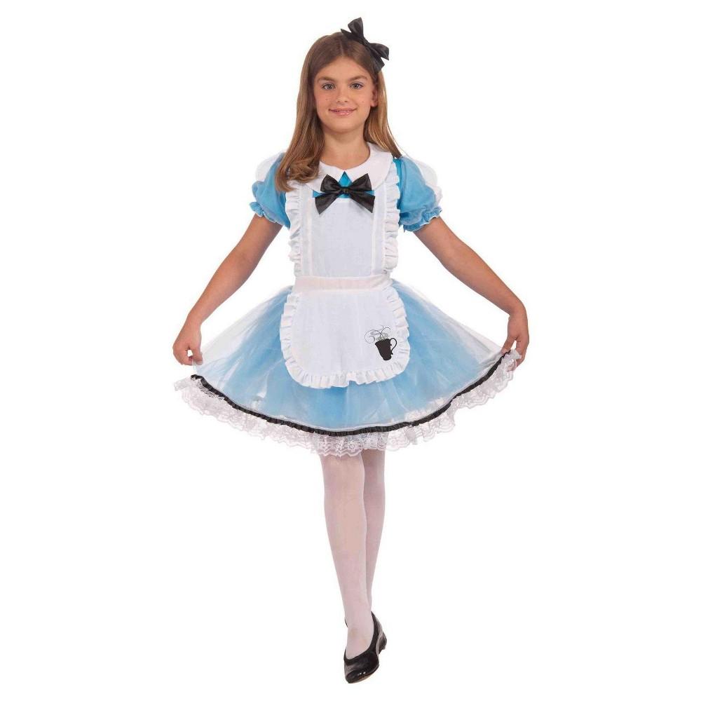 Girls Forum Novelties Alice in Wonderland Costume White/Blue L 12-14, Size: Medium, Multicolored
