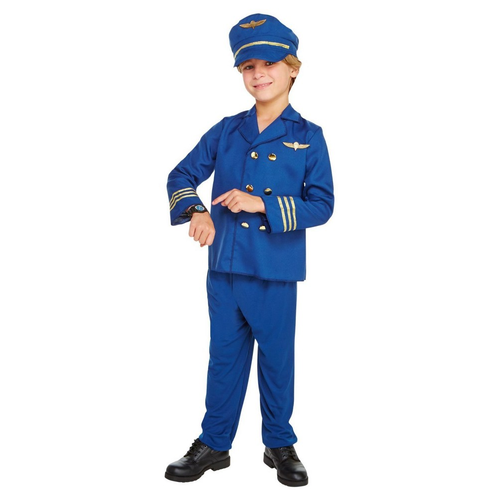 Boys Jet Set Pilot Child Costume M(8-10), Multicolored