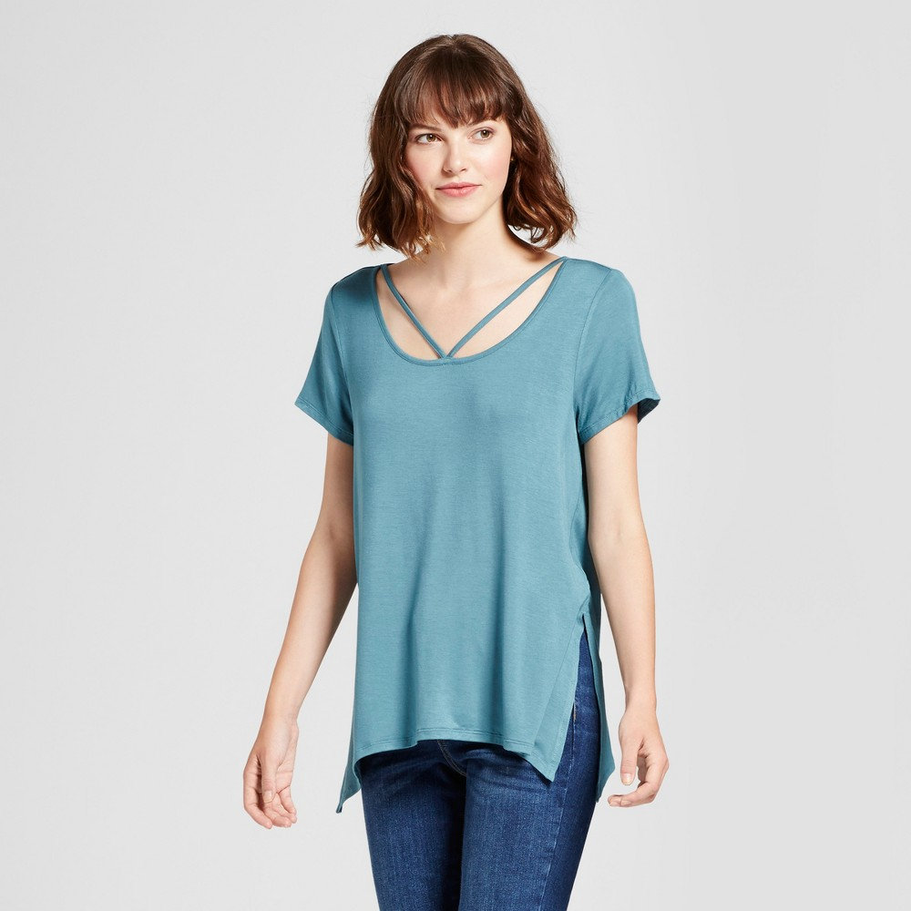 Womens Side-Slit T-Shirt - Mossimo Supply Co. Blue S