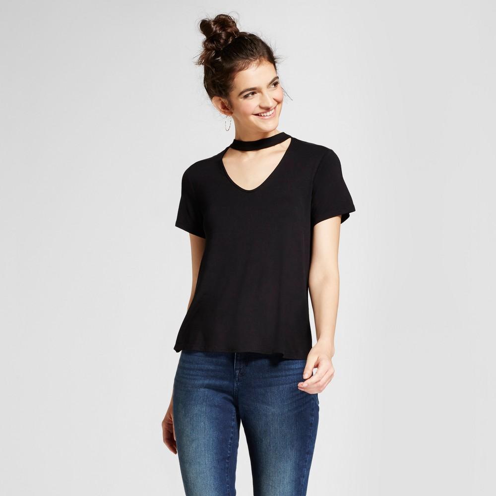 Womens Choker T-Shirt - Mossimo Supply Co. Black L