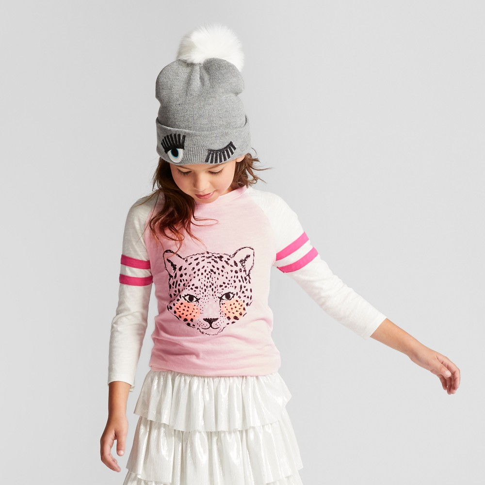 Girls Baseball Animal Graphic T-Shirt - Cat & Jack Pink L