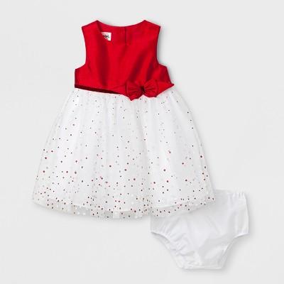Baby Girls' Mia & Mimi Ballerina Dress - Red/White 12 M