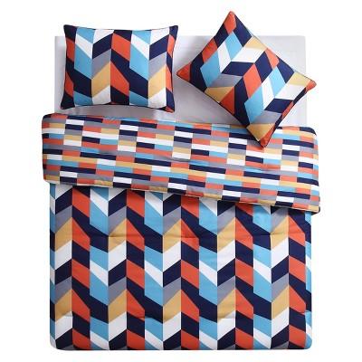 Geometric Comforter Set (King)3pc - Clairebella