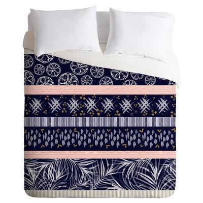 Blue Marta Barragan Camarasa Indigo Nature and Fruits Duvet Cover Set (Queen)- Deny Designs®