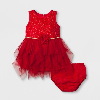 Baby Girls' Mia & Mimi Fairy Dress - Red 0-3 M