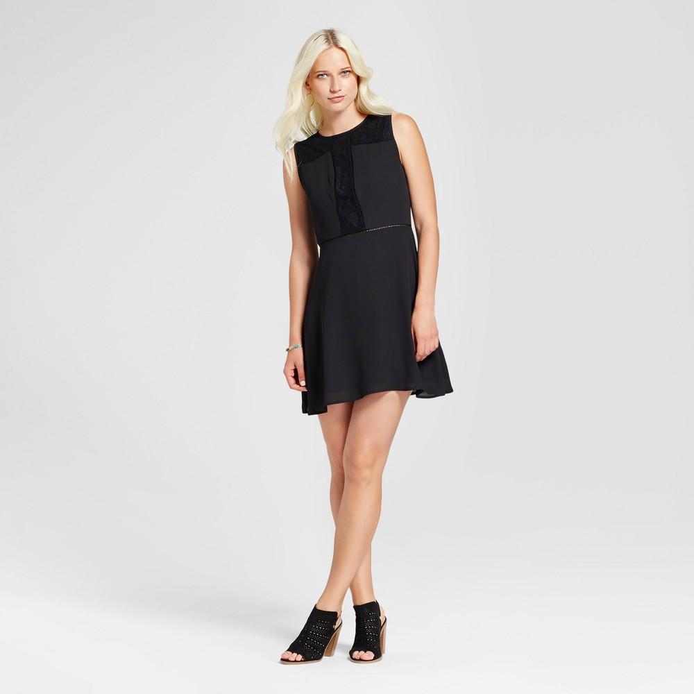 Womens Lace and Crochet Dress - Eclair Black XL