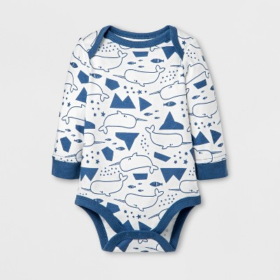 Baby Boys' Narwal Bodysuits - Cat & Jack™ Almond Cream 3-6M