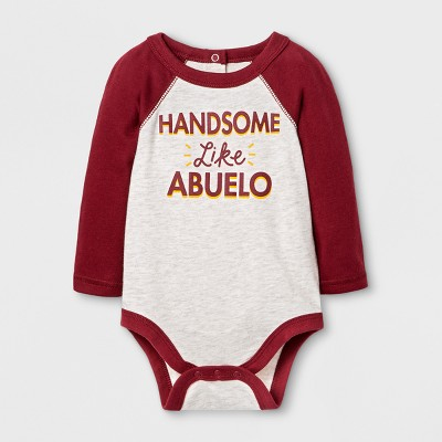 Baby Boys' 'Handsome Like Abuelo' Bodysuit - Cat & Jack™ Oatmeal 0-3M