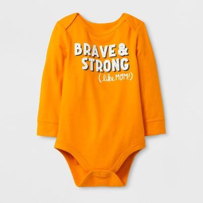 Baby Boys' 'Brave & String (like MOM!)' Bodysuit - Cat & Jack™ Russet Orange 12M