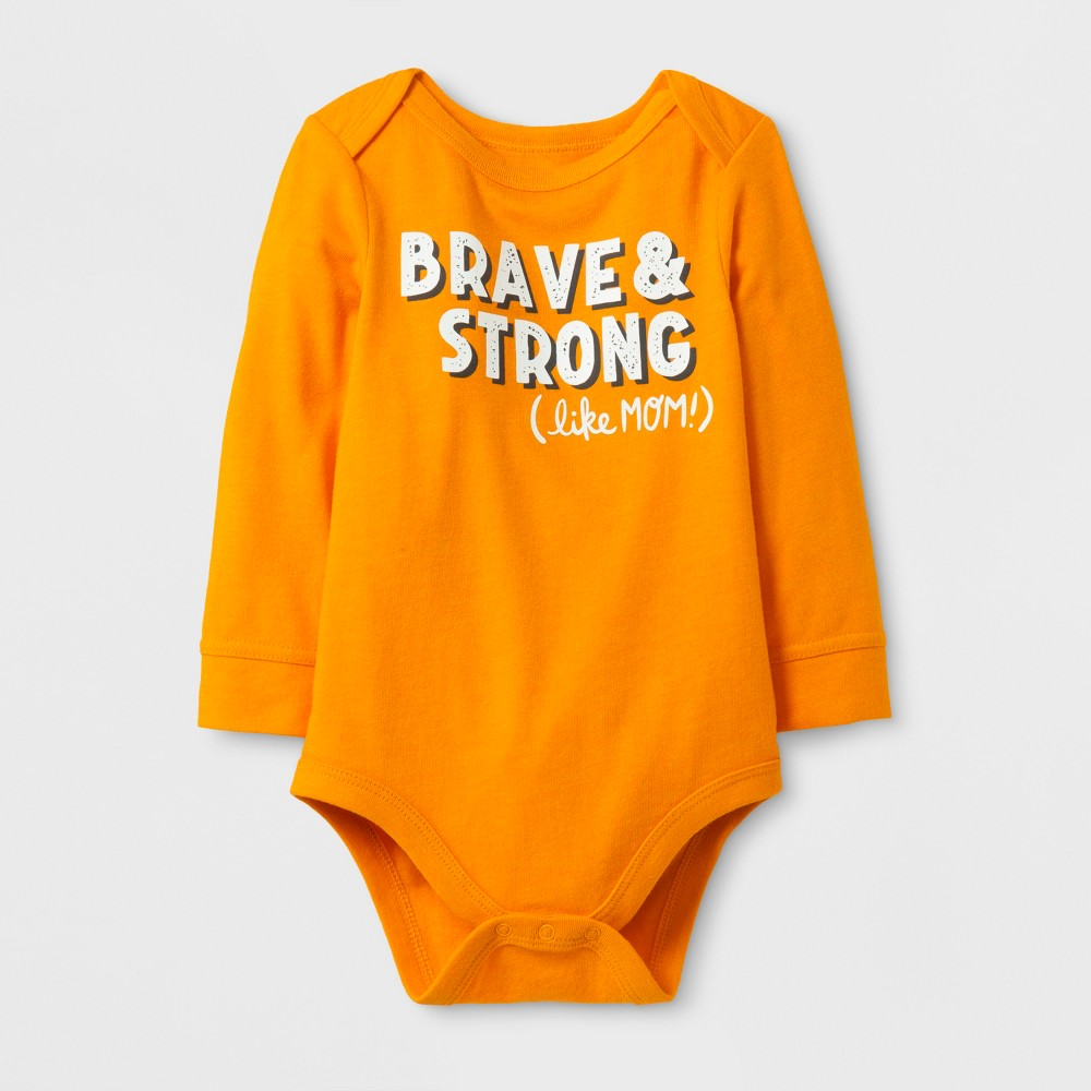 Child Bodysuits Cat & Jack Russet Orange 12 Months, Boys
