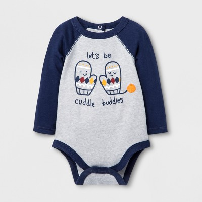 Baby Boys' 'let's be cuddle buddies' Bodysuit - Cat & Jack™ Heather 18M