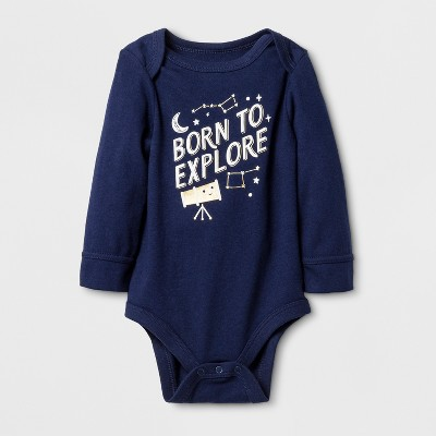 Baby Boys' 'BORN TO EXPLORE' Bodysuit - Cat & Jack™ Nightfall Blue 6-9M