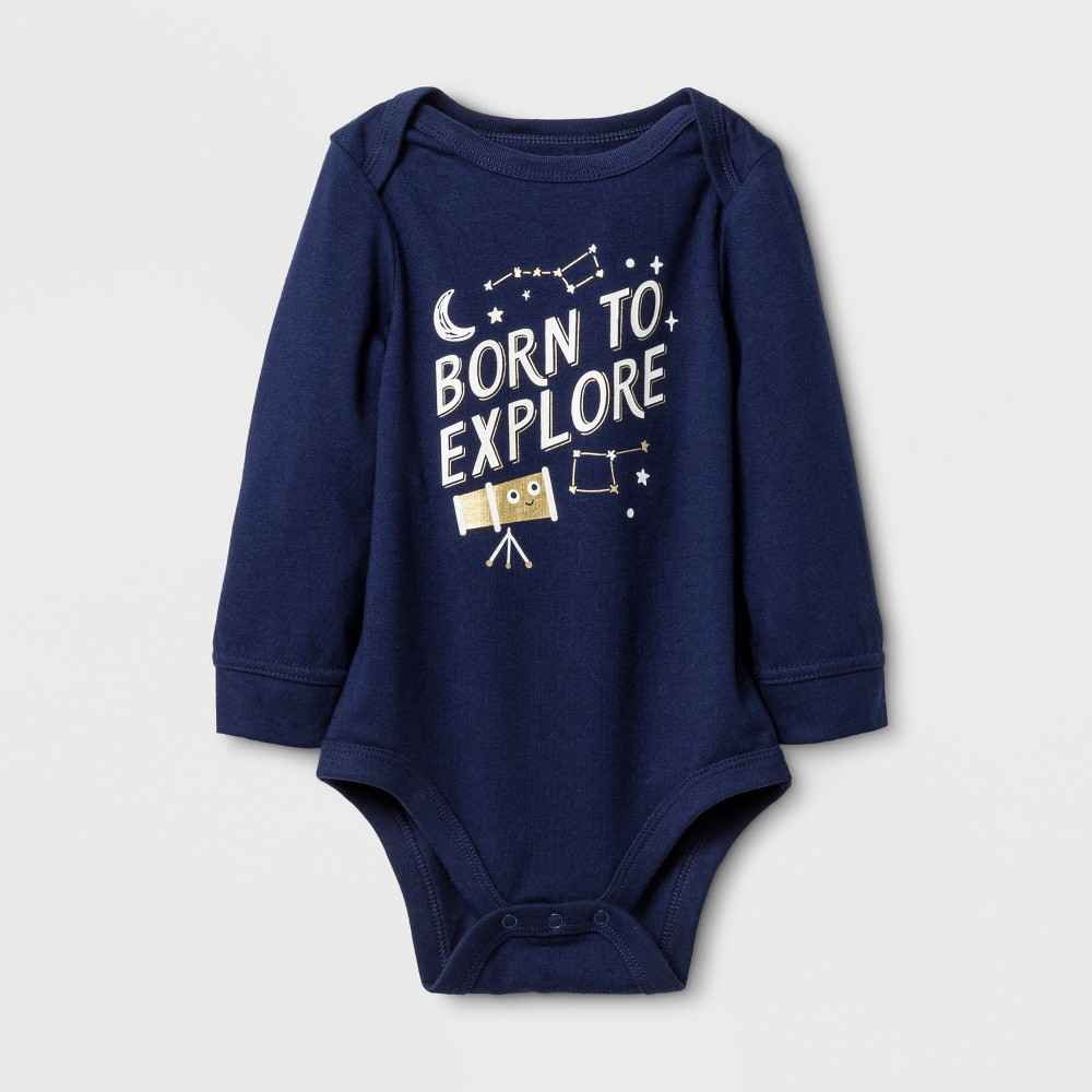 Child Bodysuits Cat & Jack Nightfall Blue 12 Months, Boys