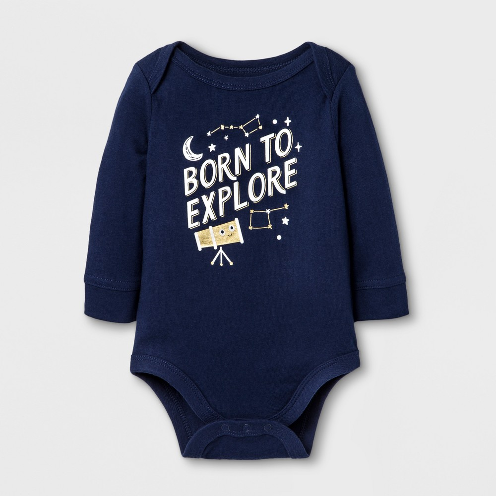 Child Bodysuits Cat & Jack Nightfall Blue 0-3 M, Boys