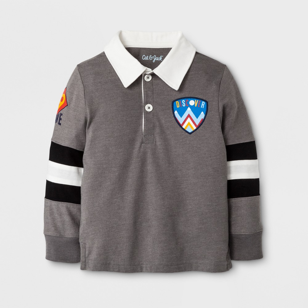 T-Shirt Radiant Gray 3T, Infant Boys