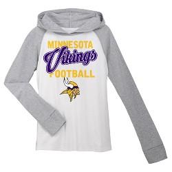 Minnesota Vikings Girls' Lightweight Hoodie Pullover
