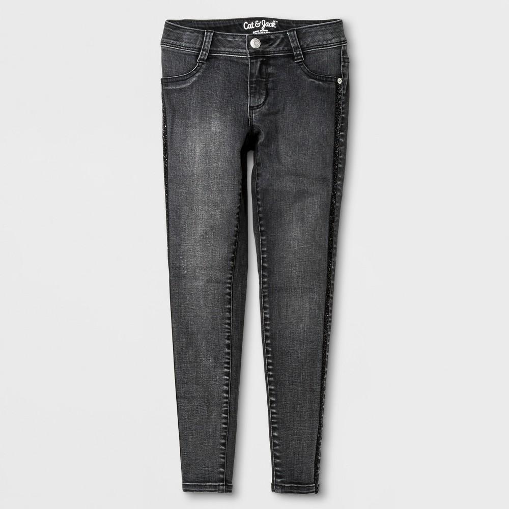 Plus Size Girls Jeans - Cat & Jack Black 14 Plus