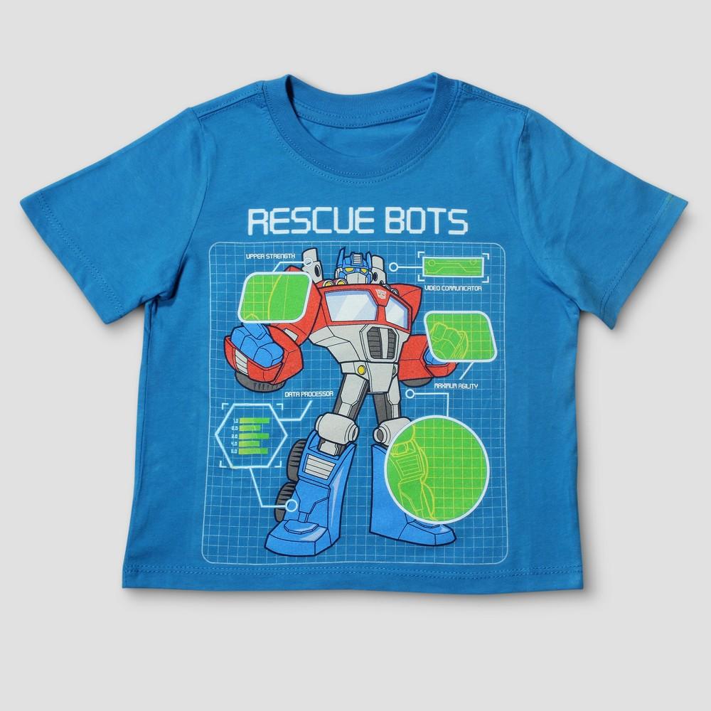 Toddler Boys Transformers Optimus Prime Short Sleeve T-Shirt - French Blue 4T