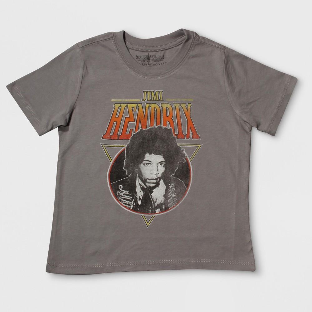 Toddler Boys Jimi Hendrix Short Sleeve T-Shirt - Gray 4T