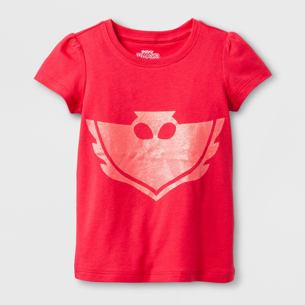 Toddler Girls PJ Masks Owlette Short Sleeve T-Shirt - Pink 5T