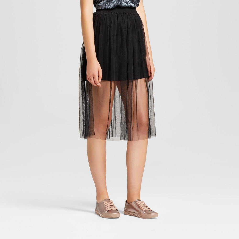 Womens Mesh Midi Skirt - Mossimo Supply Co. Black XS