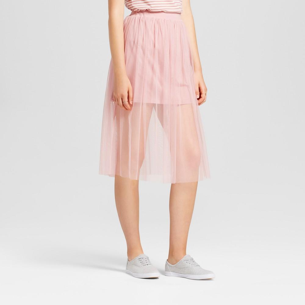 Womens Mesh Midi Skirt - Mossimo Supply Co. Mauve (Pink) XL