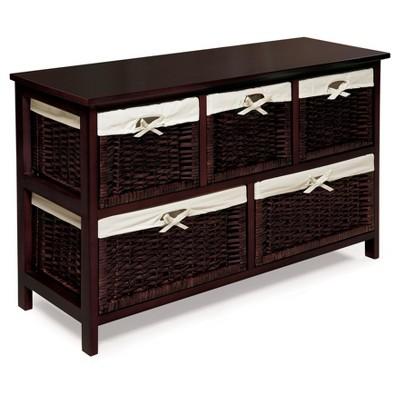 Decorative Storage Drawers Badger Basket ESPRESSO/WICKER