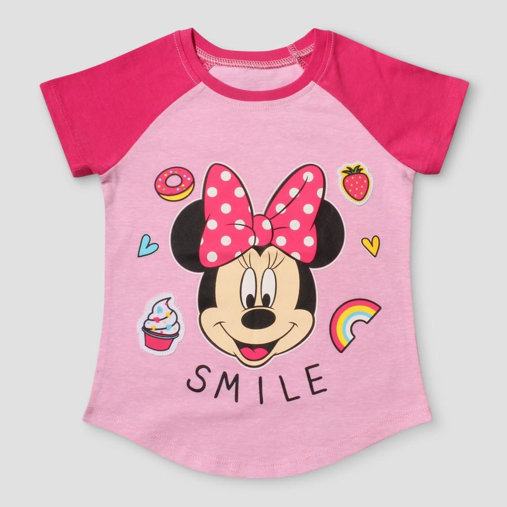Toddler Girls Disney Minnie Mouse Short Sleeve T-Shirt - Light Pink 5T
