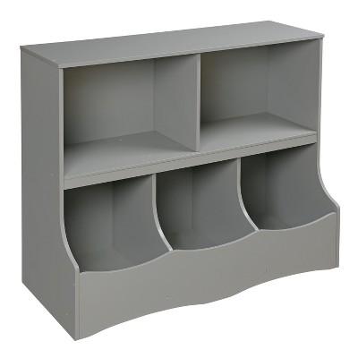 Badger Basket - Decorative Bookshelf 32  - Gray