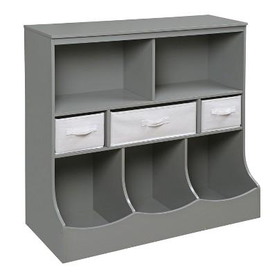 Badger Basket - Decorative Bookshelf 36  - Gray