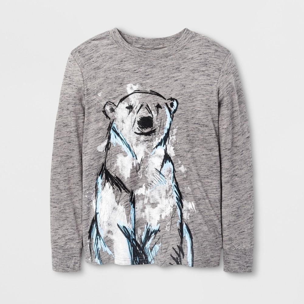 Boys Long Sleeve T-Shirt - Cat & Jack Gray S