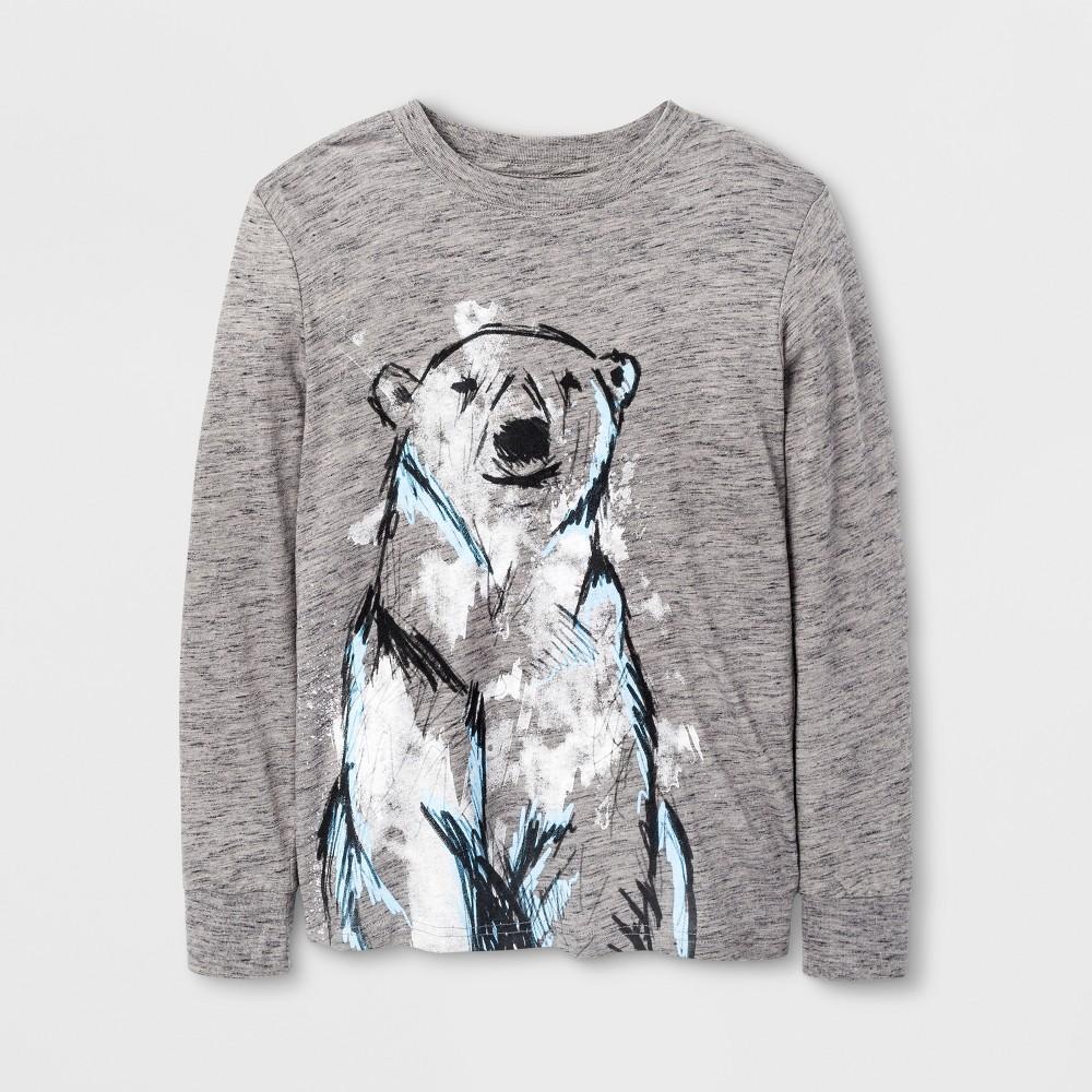 Boys Long Sleeve T-Shirt - Cat & Jack Gray M