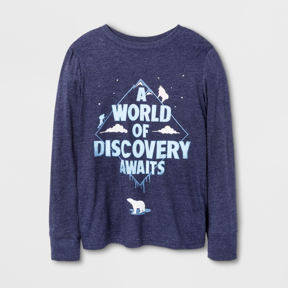 Boys Long Sleeve T-Shirt - Cat & Jack Blue, Size: Medium