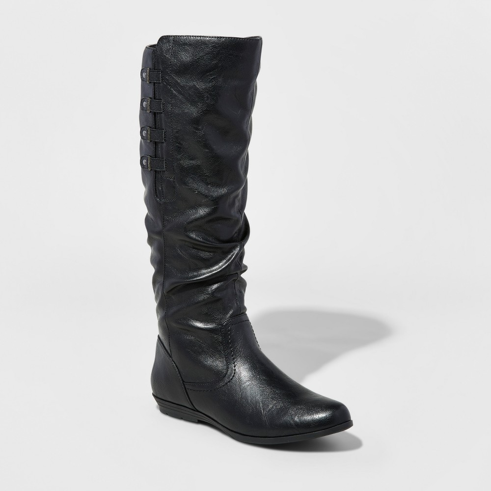 Womens Mountain Sole Frida Slouch Boots - Black 6.5