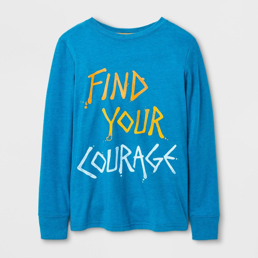 Boys Long Sleeve T-Shirt - Cat & Jack Blue XL