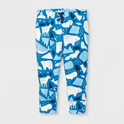 Baby Boys' Pants - Cat & Jack™ Atlantis Turquoise/White 3-6M