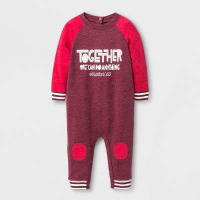 Baby Boys' Together Knit Romper - Cat & Jack™ Burgundy NB