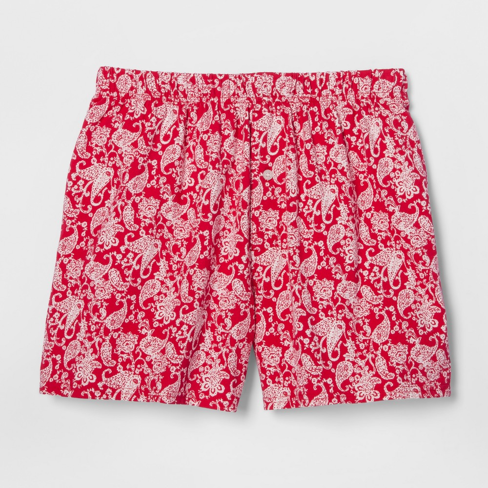 Mens Knit Boxer Shorts - Goodfellow & Co Red S