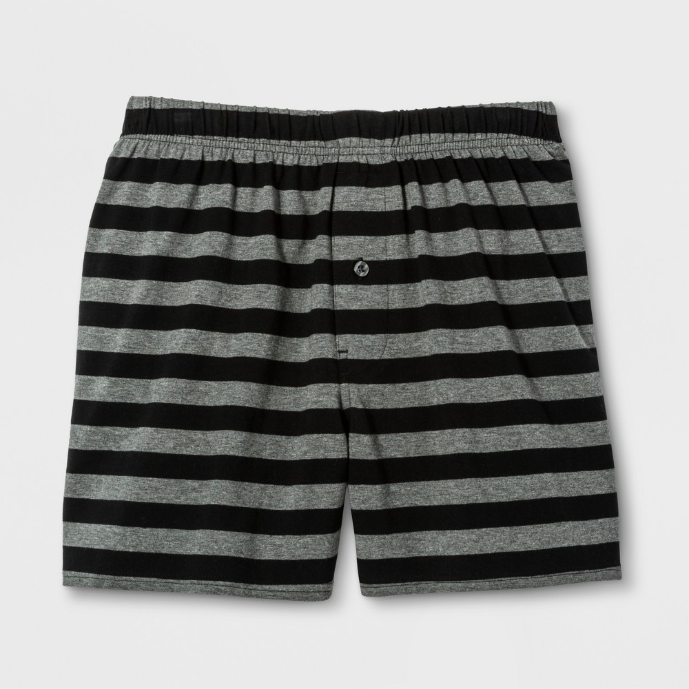 Mens Knit Boxer Shorts - Goodfellow & Co Heather Gray S